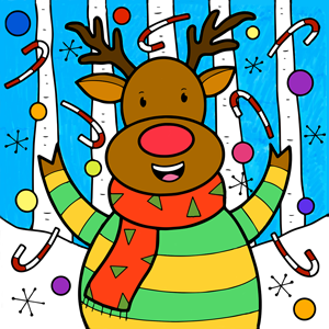 Coloring Christmas Icon